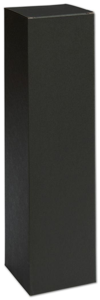 Black Single Bottle Boxes, 3 1/2 x 3 1/2 x 13 1/2