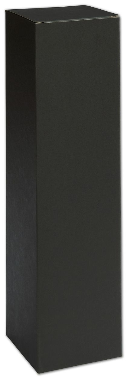 Black Single Bottle Boxes, 3 1/2 x 3 1/2 x 13 1/2""