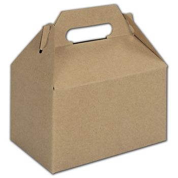 Kraft Mini Gable Boxes, 4 x 2 1/2 x 2 1/2