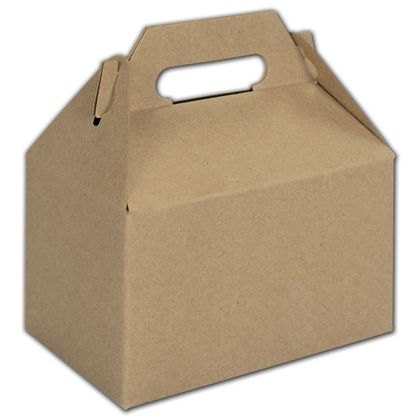 Kraft Mini Gable Boxes, 4 x 2 1/2 x 2 1/2""