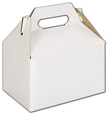 White Mini Gable Boxes, 4 x 2 1/2 x 2 1/2