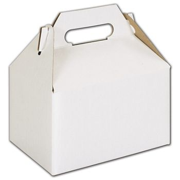White Mini Gable Boxes, 4 x 2 1/2 x 2 1/2