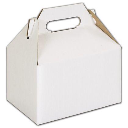 """White Mini Gable Boxes, 4 x 2 1/2 x 2 1/2"""""""