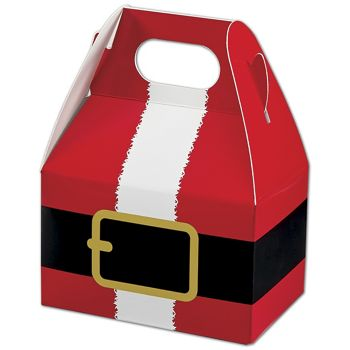 Santa's Belt Gable Boxes, 4 x 2 1/2 x 2 1/2