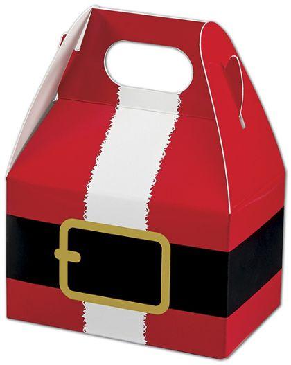 "Santa's Belt Gable Boxes, 4 x 2 1/2 x 2 1/2"""