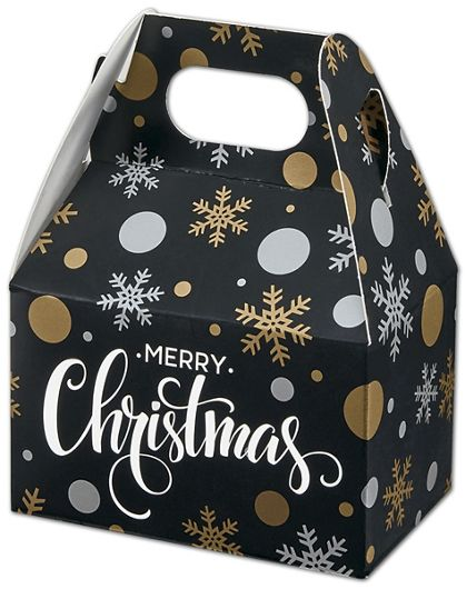"Christmas Elegance Gable Boxes, 4 x 2 1/2 x 2 1/2"""