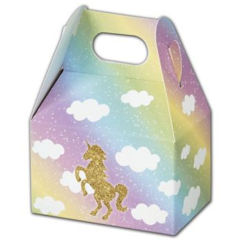 Glitter Unicorn Gable Boxes, 4 x 2 12 x 2 1/2
