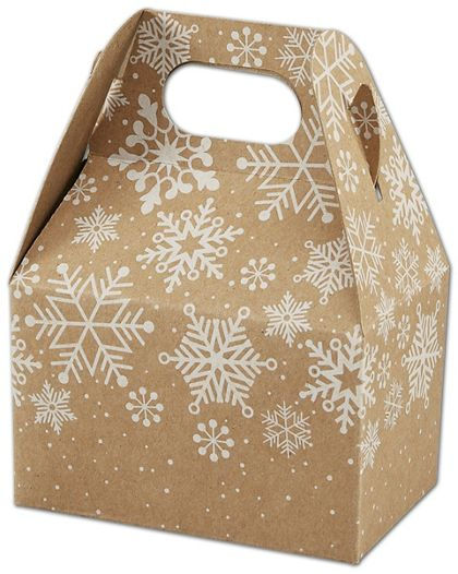 Kraft Snowflakes Gable Boxes, 4 x 2 1/2 x 2 1/2""