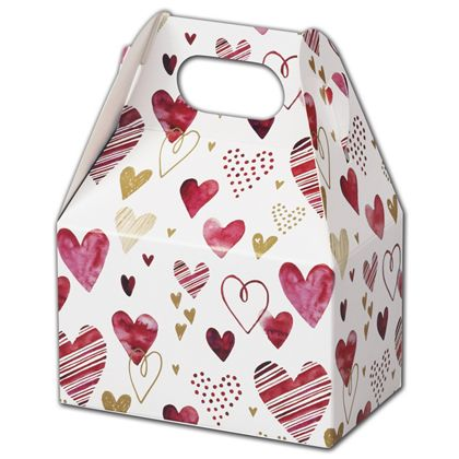Playful Hearts Gable Boxes, 4 x 2 1/2 x 2 1/2""