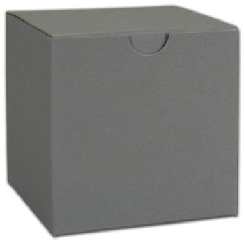 Grey One-Piece Gift Boxes, 4 x 4 x 2