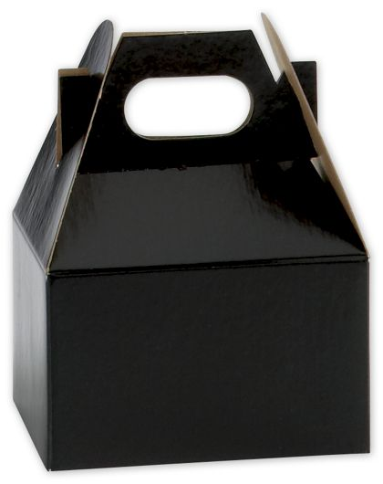 Black Mini Gable Boxes, 4 x 2 1/2 x 2 1/2""