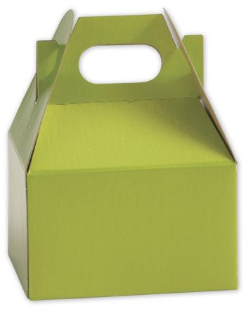Shimmer Green Mini Gable Boxes, 4 x 2 1/2 x 2 1/2