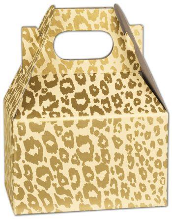 Golden Cheetah Mini Gable Boxes, 4 x 2 1/2 x 2 1/2
