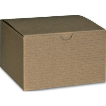 Kraft One-Piece Gift Boxes, 5 x 5 x 3