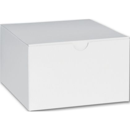 White One-Piece Gift Boxes, 5 x 5 x 3""