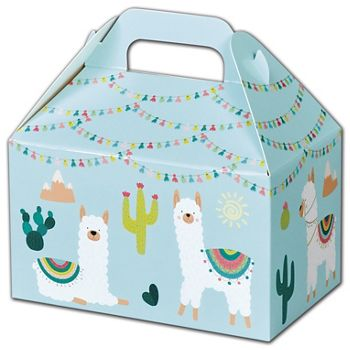 Party Llama Gable Boxes, 6 x 3 3/4 x 3 1/2