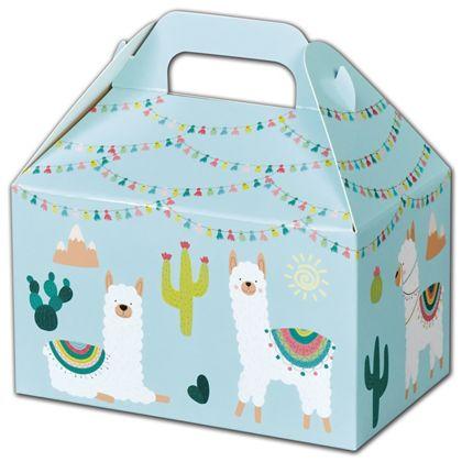 "Party Llama Gable Boxes, 6 x 3 3/4 x 3 1/2"""