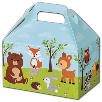 Woodland Animals Gable Boxes, 6 x 3 3/4 x 3 1/2