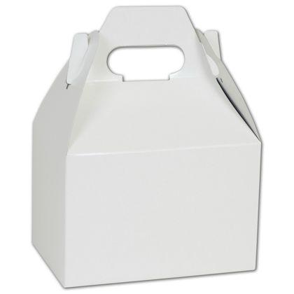 """White Gable Boxes, 6 x 4 x 4"""""""