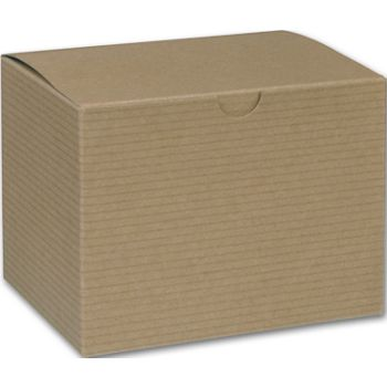 Kraft One-Piece Gift Boxes, 6 x 4 1/2 x 4 1/2