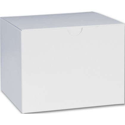 White One-Piece Gift Boxes, 6 x 4 1/2 x 4 1/2""