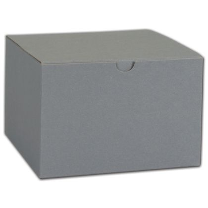 """Grey One-Piece Gift Boxes, 6 x 6 x 4"""""""