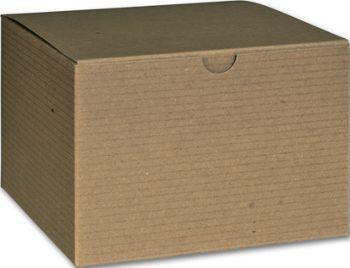 Kraft One-Piece Gift Boxes, 6 x 6 x 4