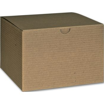 Kraft One-Piece Gift Boxes, 6 x 6 x 4
