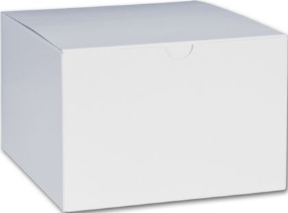 White One-Piece Gift Boxes, 6 x 6 x 4""