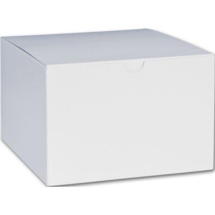 """White One-Piece Gift Boxes, 6 x 6 x 4"""""""