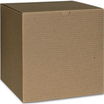 Kraft One-Piece Gift Boxes, 6 x 6 x 6