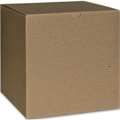 Kraft One-Piece Gift Boxes, 6 x 6 x 6""