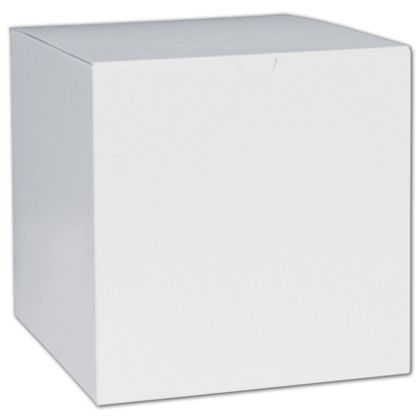 White One-Piece Gift Boxes, 6 x 6 x 6""