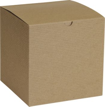 Kraft One-Piece Gift Boxes, 7 x 7 x 7