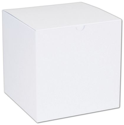 White One-Piece Gift Boxes, 7 x 7 x 7""