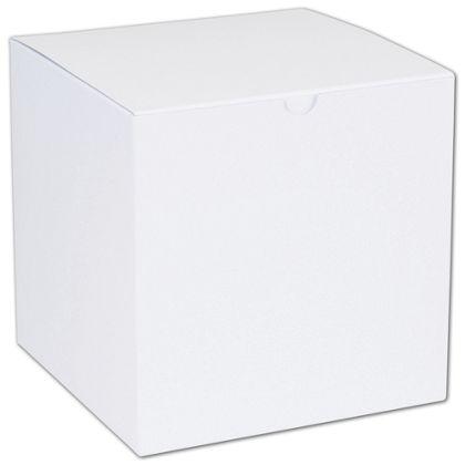 """White One-Piece Gift Boxes, 7 x 7 x 7"""""""