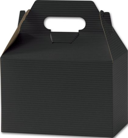 Black Varnish Striped Gable Boxes, 8 x 4 7/8 x 5 1/4""