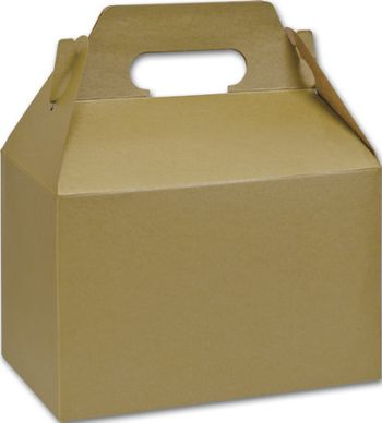 Gold Varnish Striped Gable Boxes, 8 x 4 7/8 x 5 1/4