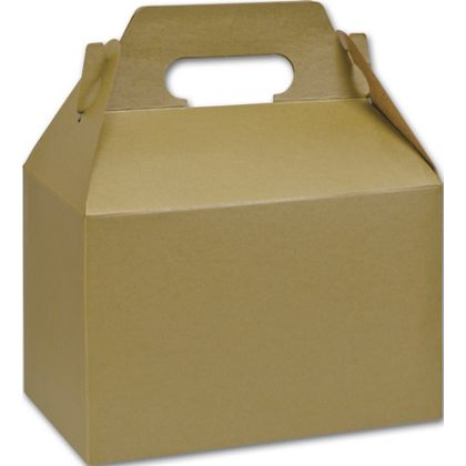 Gold Varnish Striped Gable Boxes, 8 x 4 7/8 x 5 1/4""