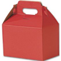 """Red Varnish Striped Gable Boxes, 8 x 4 7/8 x 5 1/4"""""""