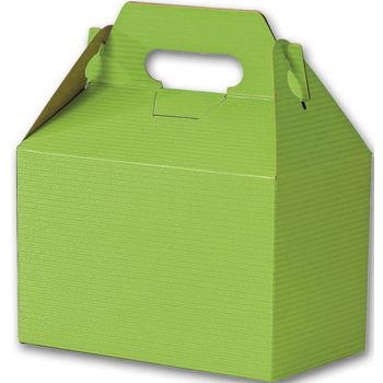 Apple Green Varnish Striped Gable Boxes, 8 x 4 7/8 x 5 1/4