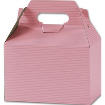 Pink Varnish Striped Gable Boxes, 8 x 4 7/8 x 5 1/4