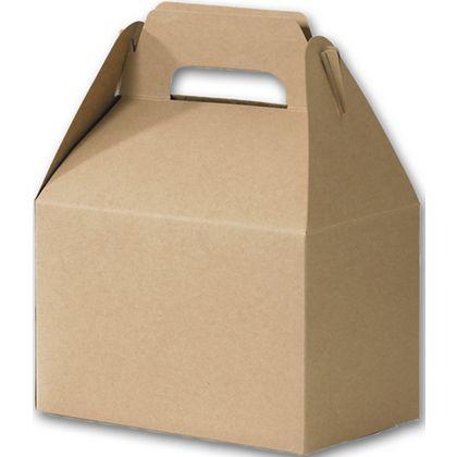 "Kraft Varnish Striped Gable Boxes, 8 x 4 7/8 x 5 1/4"""