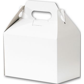 White Gable Boxes, 8 x 4 7/8 x 5 1/4""