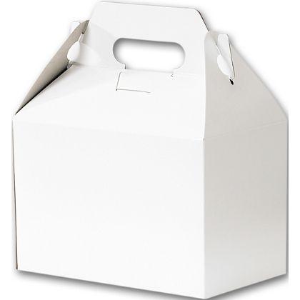 """White Gable Boxes, 8 x 4 7/8 x 5 1/4"""""""