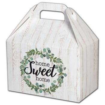 Farmhouse Home Sweet Home Gable Boxes, 8 1/2 x 5 x 5 1/2