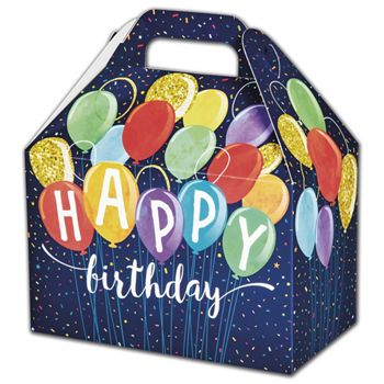 Happy Birthday Balloons Gable Boxes, 8 1/2 x 5 x 5 1/2