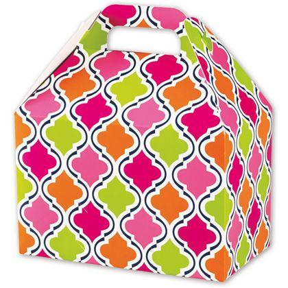"""Modern Moroccan Gable Boxes, 8 1/2 x 5 x 5 1/2"""""""