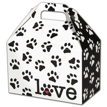Puppy Love Gable Boxes, 8 1/2 x 5 x 5 1/2""