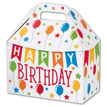 Birthday Banner Gable Boxes, 8 1/2 x 5 x 5 1/2